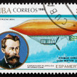 Postage stamp Cuba 1991 Paul Haenlein and Airship — Stock Photo #32608771
