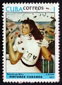 Postage stamp Cuba 1977 Portrait of Mary, by Jorge Arche — Stock Photo