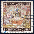 Postage stamp Cuba 1957 Holy Family, Christmas 1957 — Stock Photo