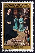 Postage stamp Nicaragua 1983 Adoration of the Kings, Christmas — Stock Photo