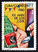 Postage stamp Cuba 1980 Feeding Babies — Stock Photo
