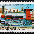 Postage stamp Nicaragua 1985 Steam Locomotive, City Railway Engi — Stock Photo