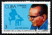 Postage stamp Cuba 1974 Cesar Perez Sentenat, Piano — Stock Photo