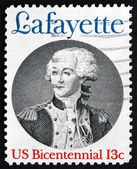 Postage stamp USA 1977 Marquis de Lafayette — Stock Photo