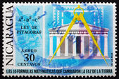 Postage stamp Nicaragua 1971 Pythagorean Theorem — Stock Photo