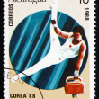 Stock Photo: Postage stamp Nicaragu1988 Gymnastics, 1992 Olympics, Seoul