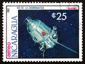Postage stamp Nicaragua 1987 Satellite Luna, Space Program — Stock Photo