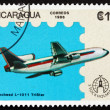 Postage stamp Nicaragua 1986 Lockheed L-1011 Tristar, Airplane — Stock Photo #33009015