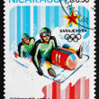 Postage stamp Nicaragua 1983 Bobsledding, 14th Winter Olympics, — Stock Photo
