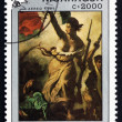 Postage stamp Nicaragu1989 Liberty Guiding People — Stock Photo #33082579