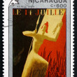 Stock Photo: Postage stamp Nicaragu1989 14th of July, Painting