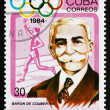 Postage stamp Cub1984 Pierre de Coubertin, Educator, Historian — Stock Photo #33083483