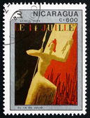 Postage stamp Nicaragua 1989 14th of July, Painting — Stock Photo