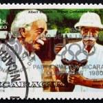 ������, ������: Postage stamp Nicaragua 1979 Albert Einstein and Albert Schweitz