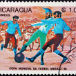 Postage stamp Nicaragua 1985 Evolution of Soccer, 1872 — Stock Photo
