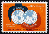 Postage stamp Cuba 1973 Wrench and Globe — Stock Photo