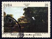 Postage stamp Cuba 1981 Gardens, Palma de Mallorca — Stock Photo