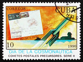 Postage stamp Cuba 1984 Spacecraft and Rocket Mail Cover — Foto Stock