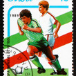 Postage stamp Cuba 1989 Soccer Players in Action — Stock Photo