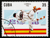 Postage stamp Cuba 1992 Judo, 1992 Olympics, Barcelona — Stock Photo