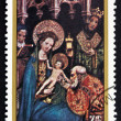 Postage stamp Nicaragu1983 Adoration of Kings, Christmas — Stock Photo #33452665