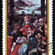 Postage stamp Nicaragu1983 Adoration of Kings, Christmas — Stock Photo #33452821