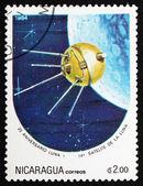 Postage stamp Nicaragua 1984 Luna 1, Space Program — Стоковое фото