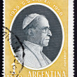 Stock Photo: Postage stamp Argentin1959 Pope Pius XII