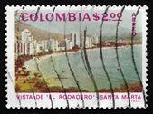 切手コロンビア 1975年エル ロダデロ、サンタ マリア — ストック写真