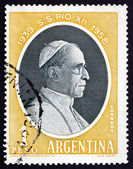 Postage stamp Argentina 1959 Pope Pius XII — Stock Photo