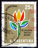 Postage stamp Argentina 1971 Stylized Tulip — Stock Photo