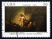 Postage stamp Cuba 1979 Peasants in Front of a Tavern — Stock Photo
