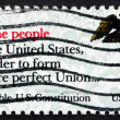 Postage stamp USA 1987 Preamble, US Constitution — Stock Photo