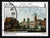 Postage stamp Cuba 1977 Golden Cross Inn, by Samuel Scott — Stock Photo