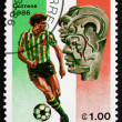 Postage stamp Nicaragua 1986 Soccer Player in Action — Stock Photo