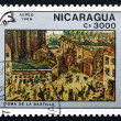 Stock Photo: Postage stamp Nicaragu1989 Storming Bastille, Painting