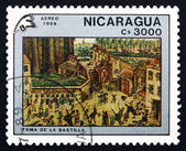 Postage stamp Nicaragua 1989 Storming the Bastille, Painting — Stock Photo
