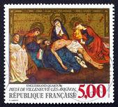 Postage stamp France 1988 La Pieta de Villeneuve-les-Avignon — Stock Photo