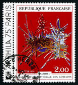 Postage stamp France 1974 In Honor of Nicolas Fouquet, Tapestry — Stock Photo