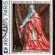 Postage stamp France 1974 Cardinal Richelieu, by Philippe de Cha — Stock Photo #33710245