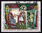 Postage stamp France 1969 Sts. Savin and Cyprian before Ladicius — Stock Photo