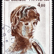 Stock Photo: Postage stamp France 1982 Young Greek Soldier, Hellenic Sculptur