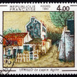 Foto de Stock  : Postage stamp France 1983 Le Lapin Agile, by Utrillo