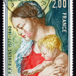 Postage stamp France 1977 Virgin and Child, by Rubens — Stock Photo
