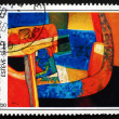 Postage stamp France 1986 Skibet, Abstract by Maurice Esteve — Stock Photo