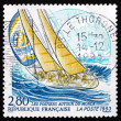 Postage stamp France 1993 Yacht La Poste, Whitbread Trans-global — Stock Photo