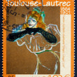 Postage stamp France 2001 Yvette Guilbert Singing Linger, Longer — Stock Photo