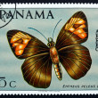 Stock Photo: Postage stamp Panam1968 Skipper Butterfly