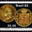 Stock Photo: Postage stamp Brazil 1982 Emperor Pedro's Coronation Coin