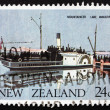 Postage stamp New Zealand 1984 Ferry Mountaineer, Lake Wakatipu, — Stock Photo